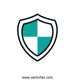Isolated shield icon vector design
