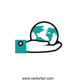 Isolated planet sphere vector design