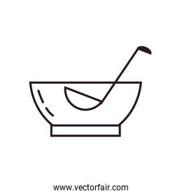 Isolated punch bowl line style icon vector design