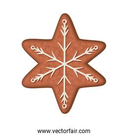 Merry christmas snowflake cookie vector design