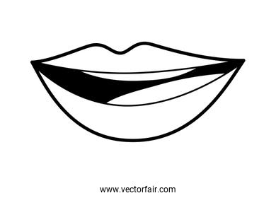 Isolated mouth cartoon vector design