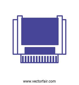 Isolated retro cpu line style icon vector design