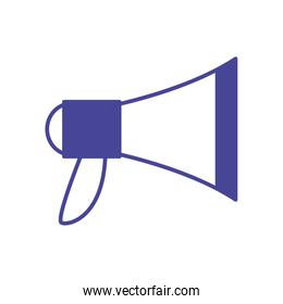 Isolated megaphone line style icon vector design
