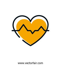 Isolated heart beat icon vector design