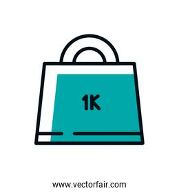 Isolated weight icon vector design