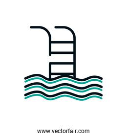 Isolated swimming pool icon vector design