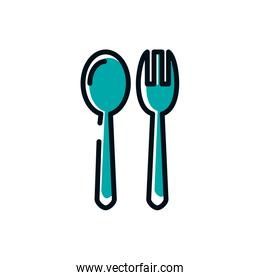 Isolated fork and spoon vector design