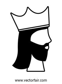Isolated man with royal crown vector design