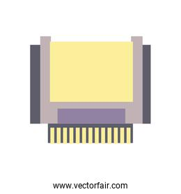 Isolated retro cpu fill style icon vector design