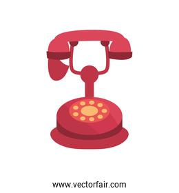 Isolated phone fill style icon vector design