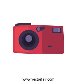 Isolated camera device fill style icon vector design