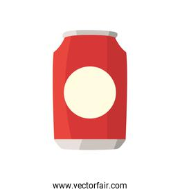 Isolated soda can drink fill style icon vector design