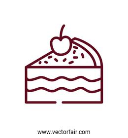 Isolated sweet cake vector design