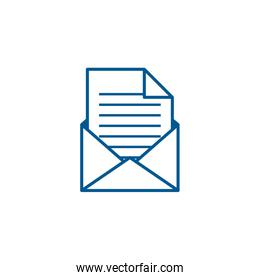 Isolated envelope message line style icon vector design