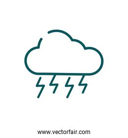Isolated cloud shape and thunders vector design