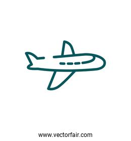 Isolated airplane icon vector design