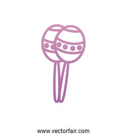 Isolated maracas instrument vector design