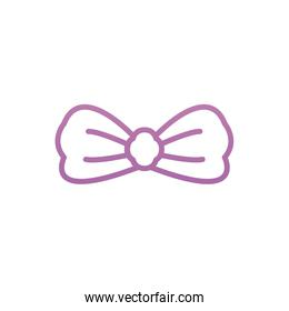 Isolated male bowtie vector design