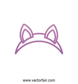 Isolated party cat mask vector design
