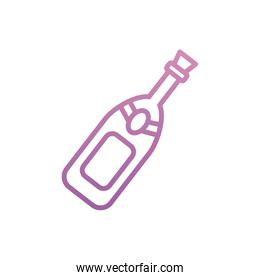 Isolated champagne bottle vector design