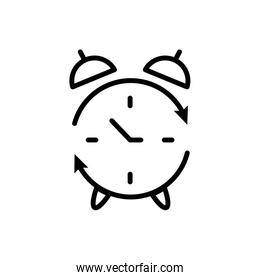 Isolated clock instrument and arrows vector design