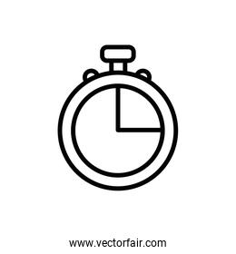 Isolated chronometer instrument vector linear style