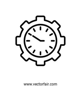 Isolated clock instrument and gear vector design