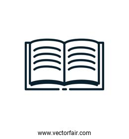 Isolated education open book vector design