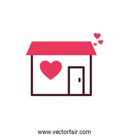 Isolated house and heart vector design