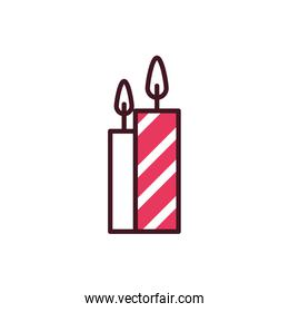 Isolated candles icon vector design