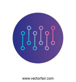 Isolated gradients with points gradient style icon vector design