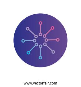 Isolated gradients with points circle gradient style icon vector design