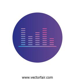 Isolated gradients towers gradient style icon vector design