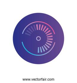 Isolated circle with gradients gradient style icon vector design