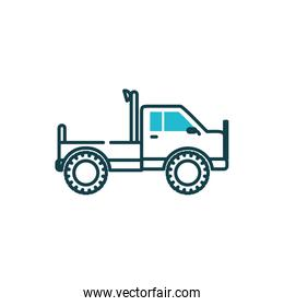 Isolated pickup car vehicle vector design