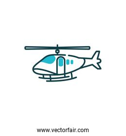 Isolated helicopter icon vector design