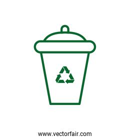Isolated recycle trash vector design