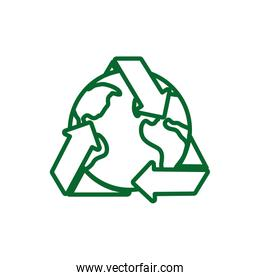 Isolated recycle and world vector design