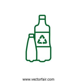 Isolated recycle plastic bottle vector design