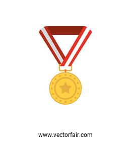Isolated gold medal vector design