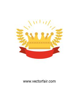 Isolated royal gold crown vector design