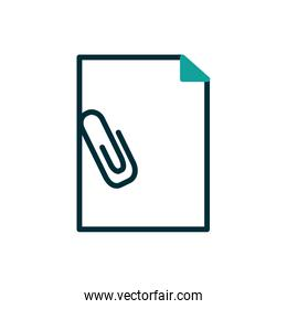 Isolated data document with clip vector design