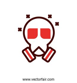 Isolated industrial gas mask vector design