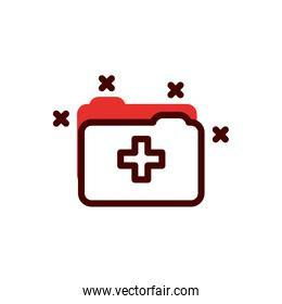 Isolated file of medical care concept vector design