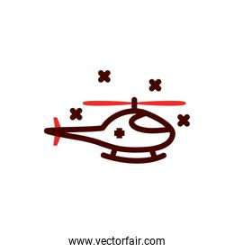 Isolated helicopter vehicle vector design