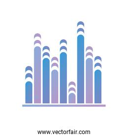 Isolated wave gradient style icon vector design
