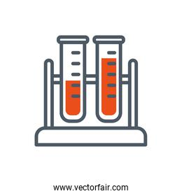 Isolated chemistry tubes vector design