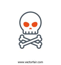 Isolated skull icon vector design