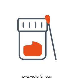 Isolated chemistry jar and needle vector design