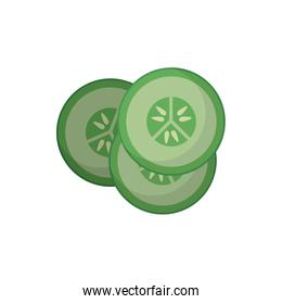 Isolated cucumber slides vector design
